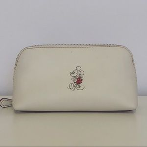 Disney x Coach Mickey Mouse Ivory Cosmetic Case